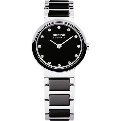 Bering Ceramic Silver and black watch