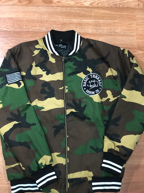 Basic Men'z Camo Bomber Jacket