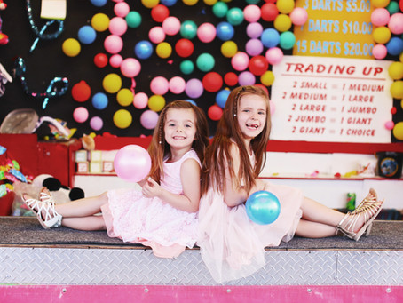 Las Vegas Carnival Family Photo Shoot | Pretty In Pink