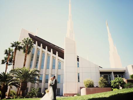 Las Vegas LDS Temple Wedding | Alex & Grace: Sunflowers & Lilacs