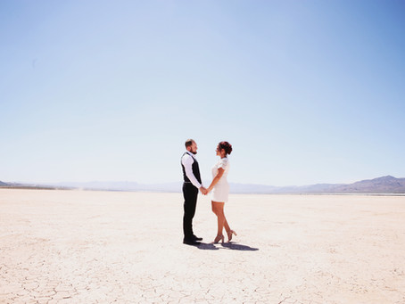 Dry Lake Bed Engagement Session | Sun, Wind, & Tailgating