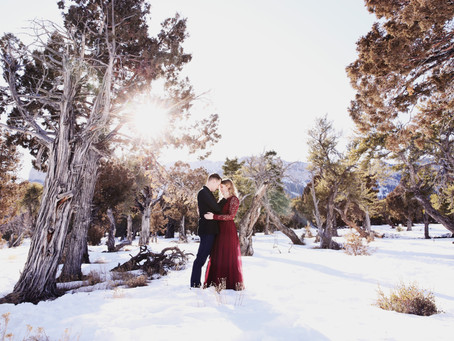 Mt. Charleston Engagement Session | Backwoods & Firearms