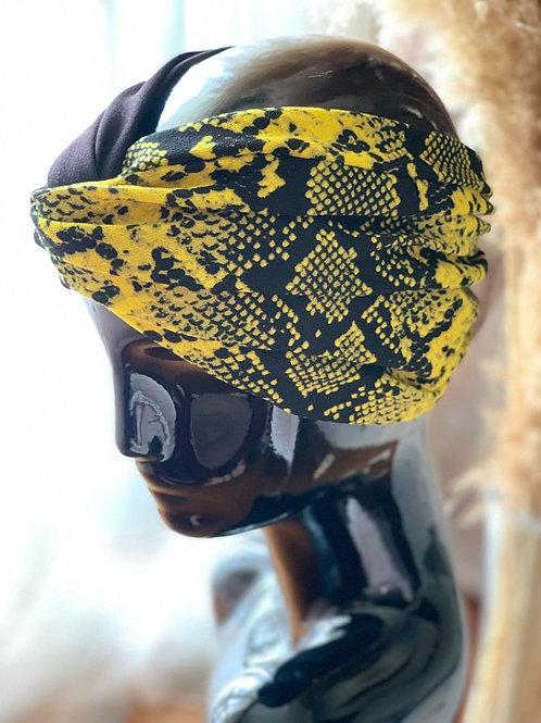 Yellow Leopard Headpiece