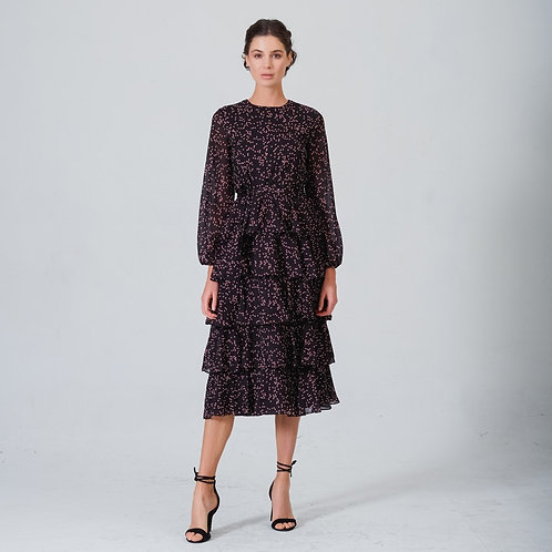 Simone Diana Dress Black