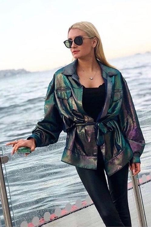 Coupe Green Shiny Jacket