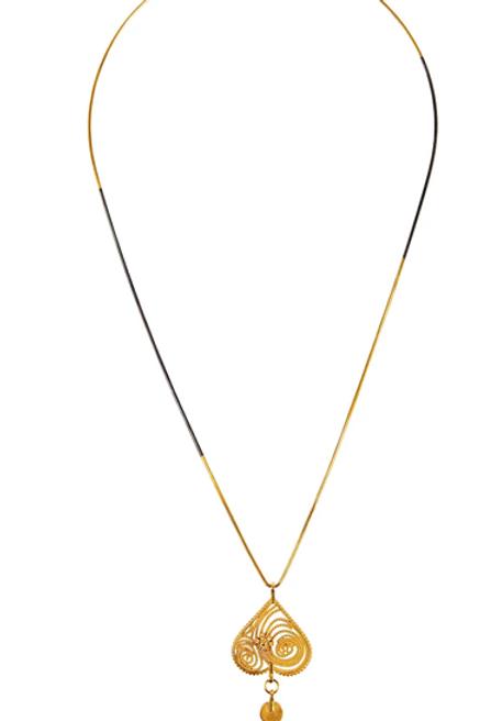 Monapetra Upside Down Heart Necklace