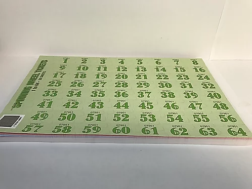 Spinning Wheel Tickets 1-64