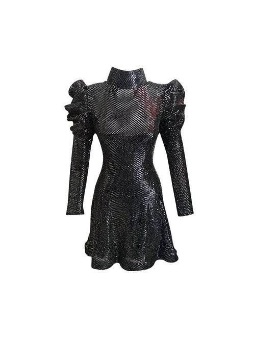 Gira Black Shiny Dress