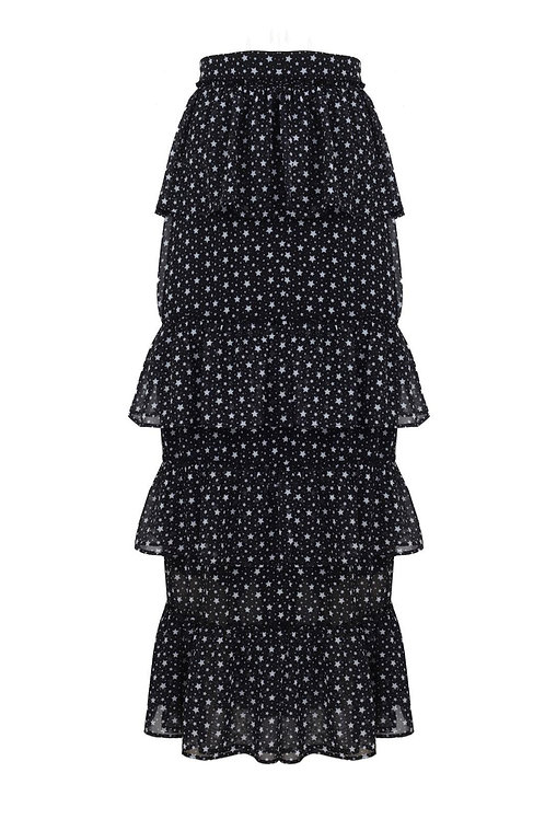 Simone Black Star Skirt