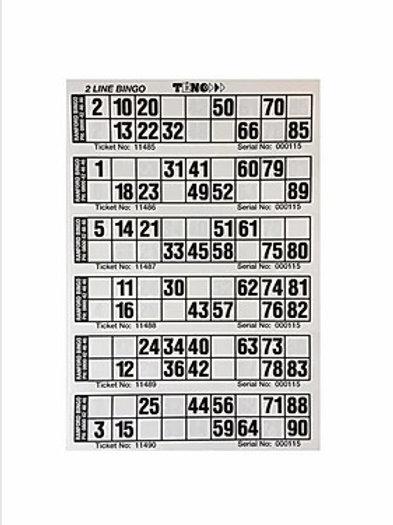 Twoline Bingo (Teno) Books