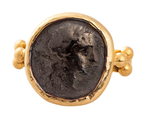Monapetra Ancient Coin Ring