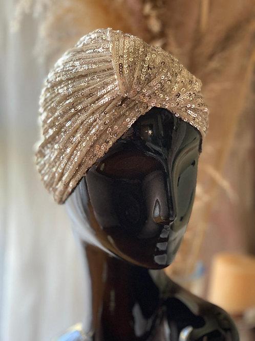 Cream Sequin Headpiece