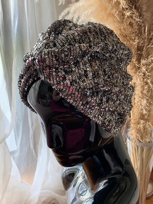 Black Sequin Headpiece