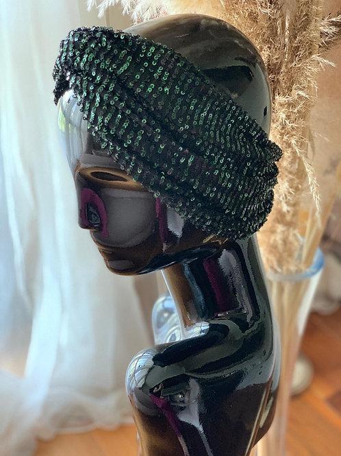 Green Sequin Headpiece