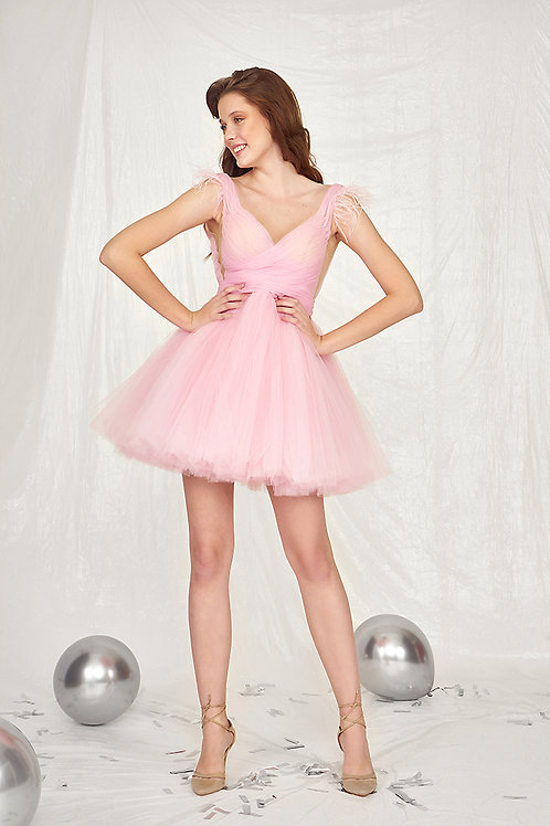 MugeM Pink Short Dress