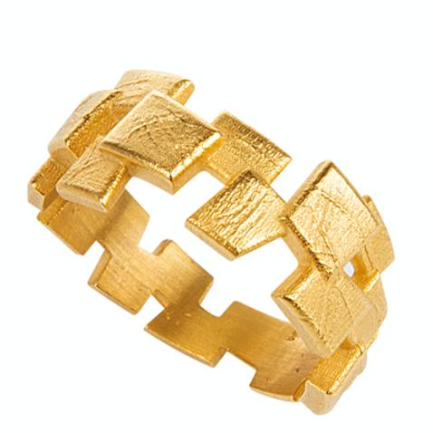 Monapetra Thick Mosaic Ring