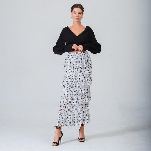 Simone White Star Skirt