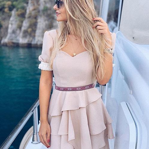 Ihandmore Linen Coffee Skirt and Top