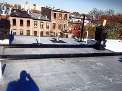 Beamwork on the roof