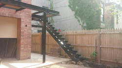 Steel deck and staircase