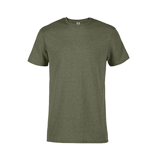 Delta Soft Spun Pepper Heather Tee