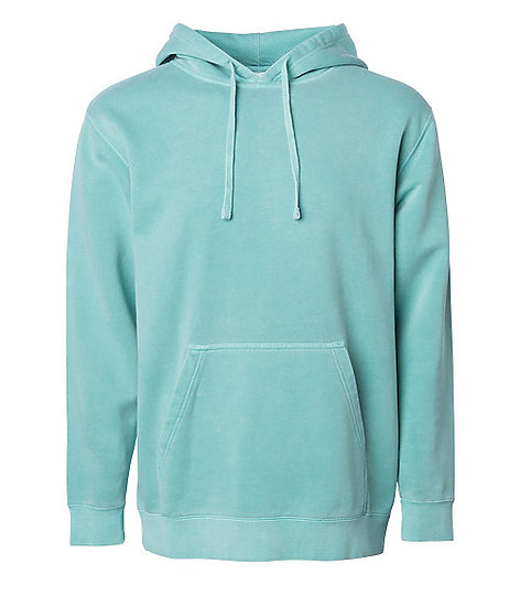 Independent Unisex Midweight Pigment Dyed Hooded Pullover