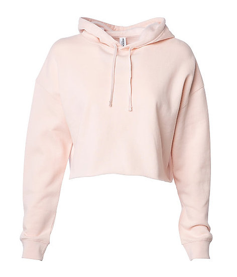 Independent Woman's Lightweight Crop Hoodie