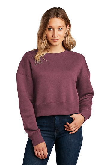 District Woman's Perfect Weight Fleece Cropped Crew