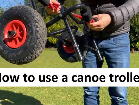 How to use a canoe trolley