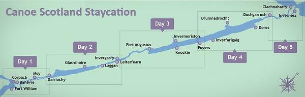 Map Canoe Scotland Staycation