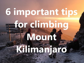 6 important tips for climbing Mount Kilimanjaro