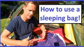 How to use a sleeping bag - correctly!