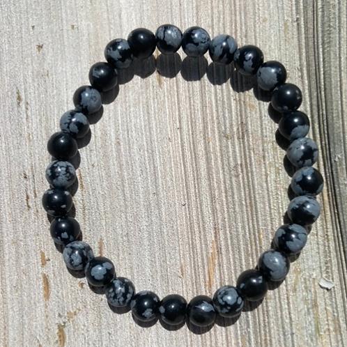 Snowflake Obsidian 6mm women's bracelet