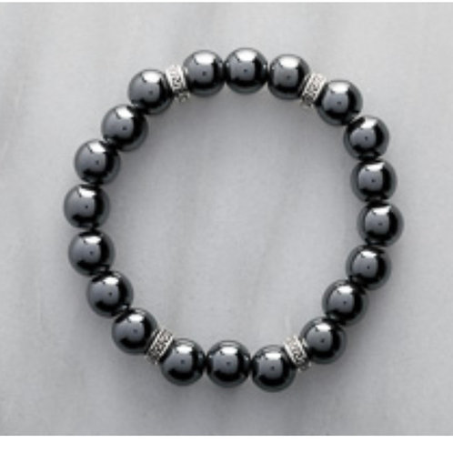 10mm- Hematite Men's Bracelet