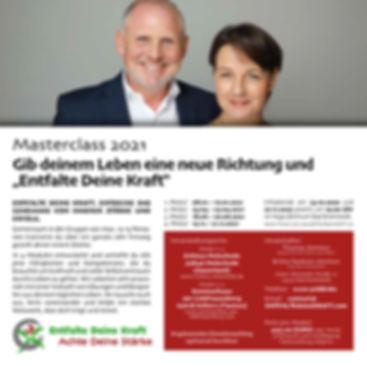 Masterclass 2021 Gib deinem Leben eine neue Richtung und Entfalte Dein Kraft