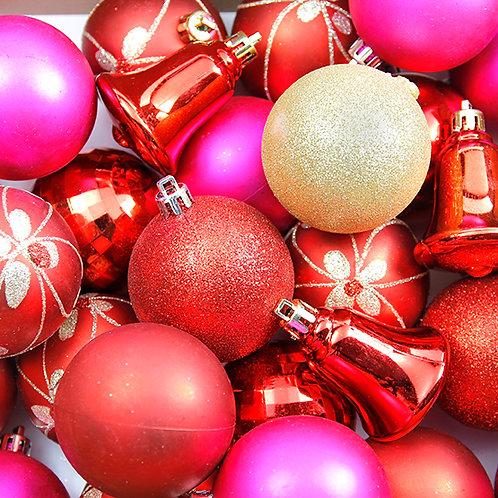 Multicolor Christmas Decoration Balls (25 pcs)