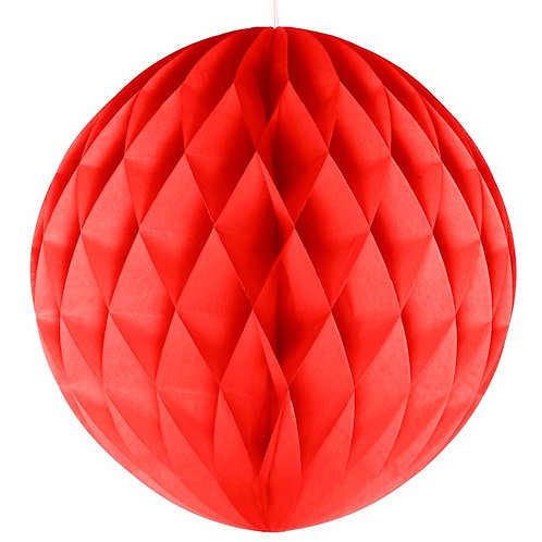 Red Honeycomb Ball Lanterns