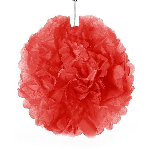 Tissue Pom Pom - Red