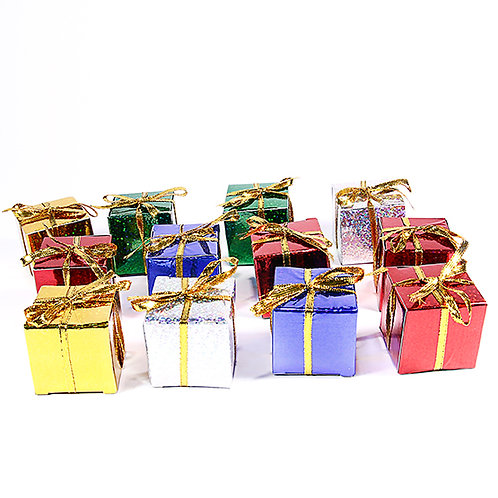 Multicolor Gift Decoration (12 Pack)