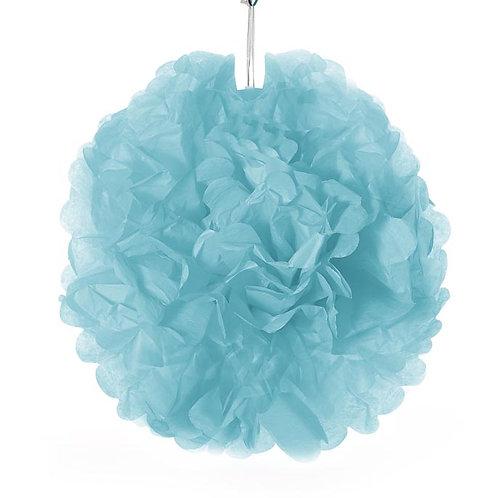 Tissue Pom Pom - Aqua