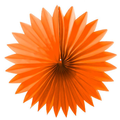 Paper Tissue Fan Decoration - Orange