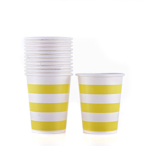 Party Paper Stripe Cups ( 12 Pack)