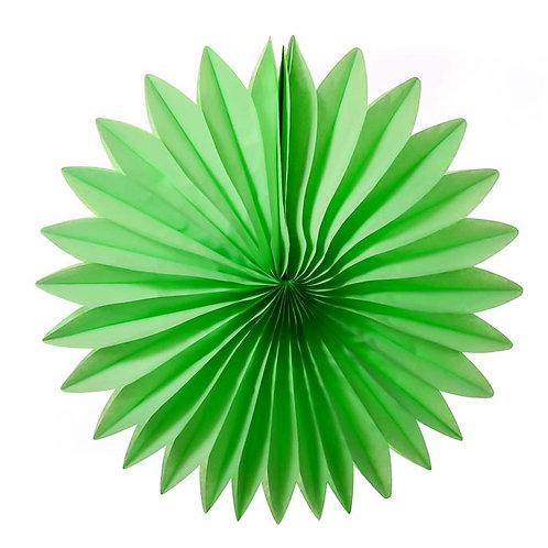 Paper Tissue Fan Decoration -Green