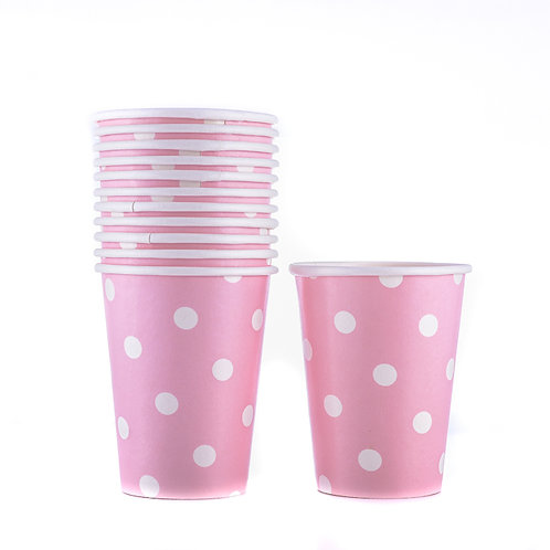 Party Paper Polka Dot Cup ( 12 Pack)