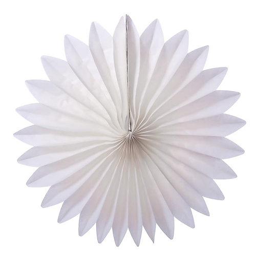 Paper Tissue Fan Decoration -White
