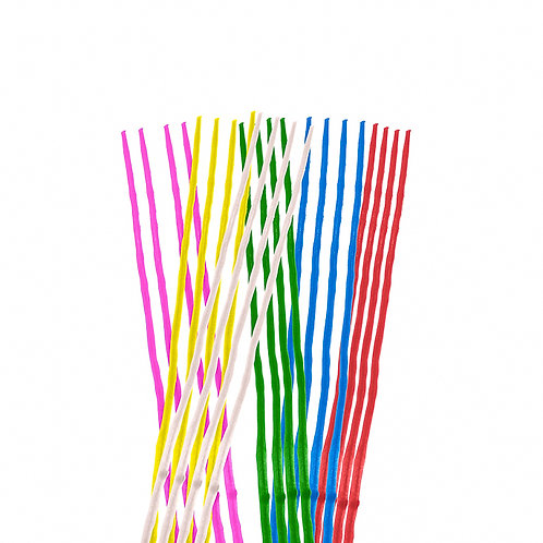 Party Candles Slim Assorted ( Pack 24)