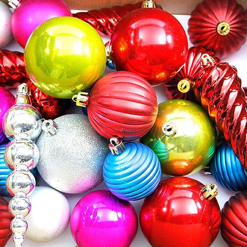 Multicolor Christmas Decoration Balls (100 pcs)