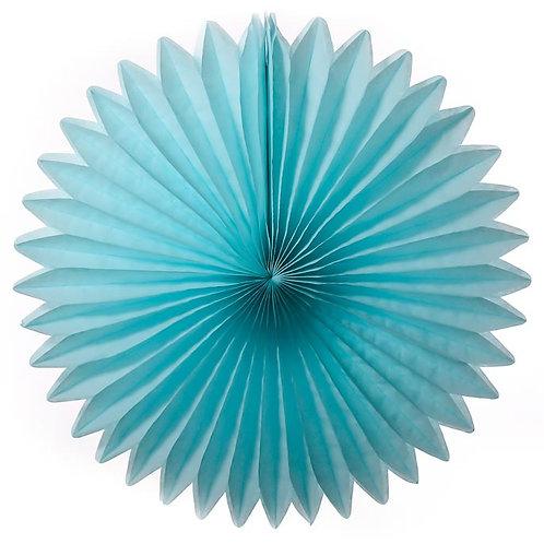 Paper Tissue Fan Decoration -Tea Blue
