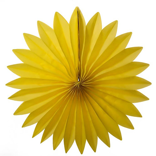 Paper Tissue Fan Decoration -Yellow