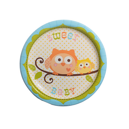 Happy Tree Dessert Plates - Boy (8 Pack)